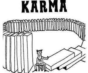 karma and bitch. image