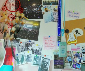 pinboard, bts, and study motivation image