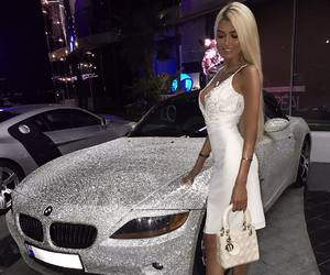 car, blonde, and bmw image