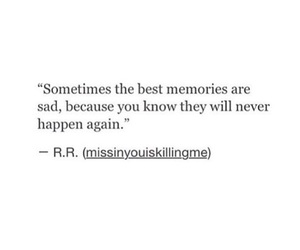 memories, never, and quote image