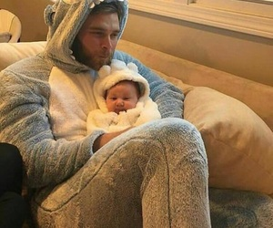 baby, bear, and bed image