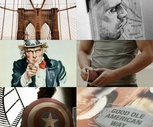 aesthetics, captain america, and Collage image