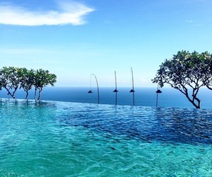 nature, paradise, and pool image