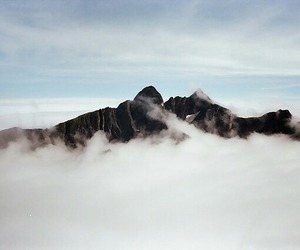 mountains, clouds, and sky image