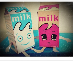 milk, pink, and blue image