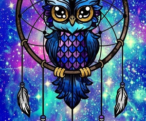 background, dreamcatcher, and galaxy image