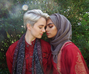 couple, islam, and gay image