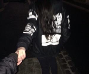 black, grunge, and couple image