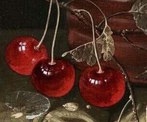 art, vintage, and cherries image