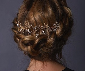 accessories, braid, and girl image