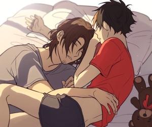 asahi, cuddling, and sleeping image