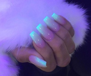 nails, neon, and beauty image