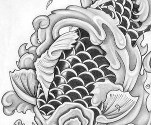 draw, fish, and tattoo image