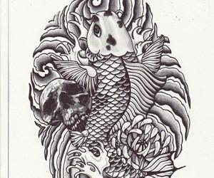 draw, drawing, and fish image