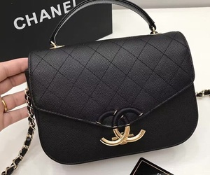 bag, chic, and gold image