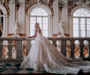 wedding, princess, and dress image