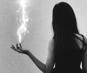 girl, magic, and dark image