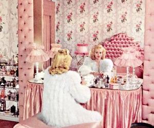 vintage, pink, and blonde image