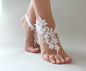 etsy, beach wedding, and wedding sandals image