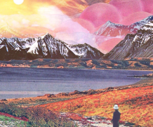 color, sunset, and psychedelic image