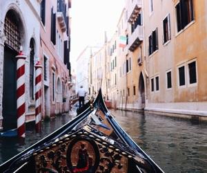 gondola, venice, and italy image