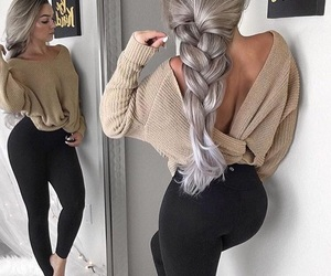 care, grey, and hair image