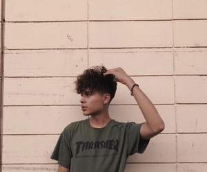 boy, green, and thrasher image