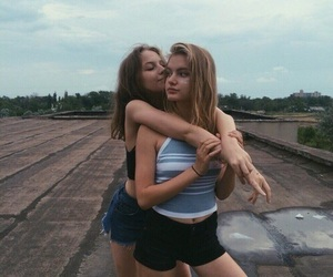 girl, lesbian, and friendship image