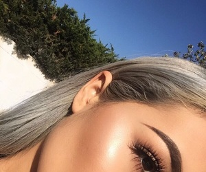eyebrows, highlighter, and makeup image