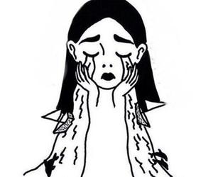 girl, art, and sad image