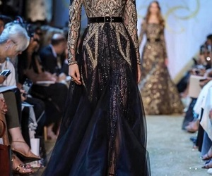 black, dress, and elie saab image