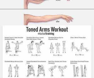 arms, gym, and workout image