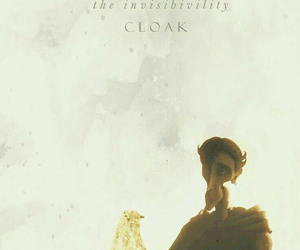 cloak, j.k rowling, and deathly hallows image