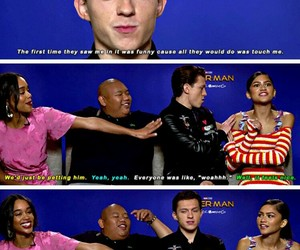 cast, interview, and Marvel image