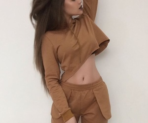 beige, clothes, and fashion style image