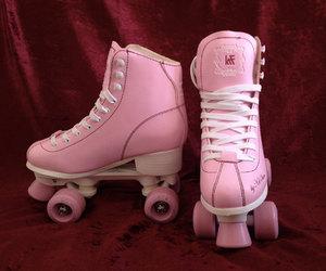 etsy, pink, and roller skates image