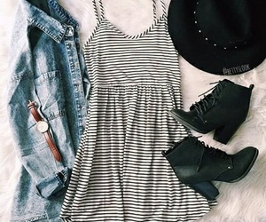 boots, dress, and watch image