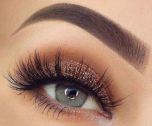 beautiful, eye, and make up image