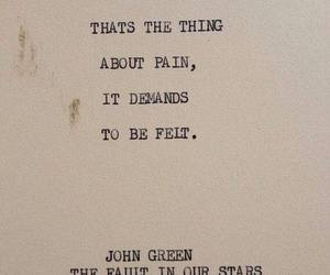 quotes, john green, and pain image