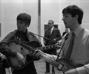 the beatles, john lennon, and Paul McCartney image