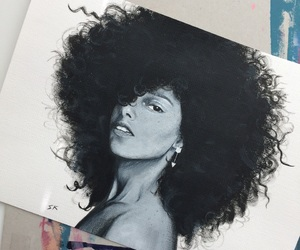 alicia keys, here, and acrylic painting image