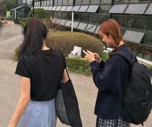 girl, friends, and asian image