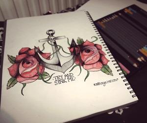 drawing, art, and anchor image