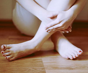 feet, girl, and lonely image