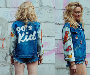90's, denim jacket, and old-school image