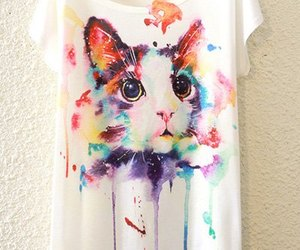 cats, rainbow, and colorful image