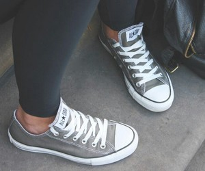 all star, converse, and grey image