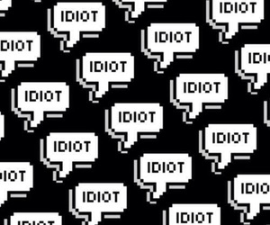 idiot, wallpaper, and pattern image