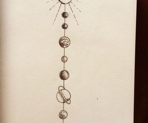 planet, planets, and sketch image