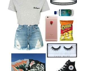 chokers, converse, and Polyvore image